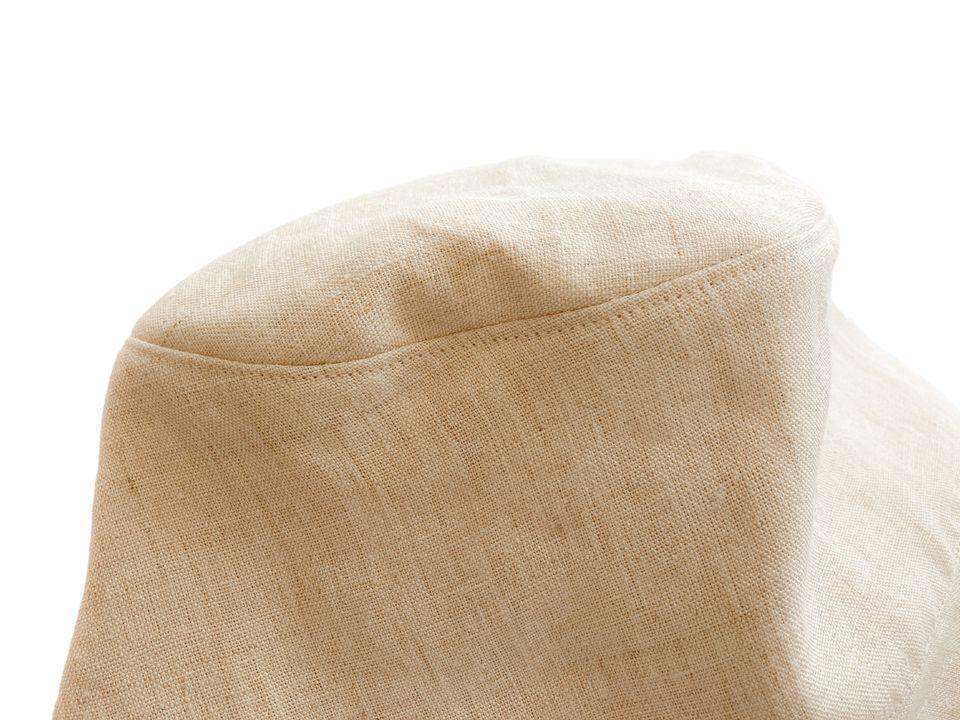 麻の服専門店A麻の帽子裏アップ